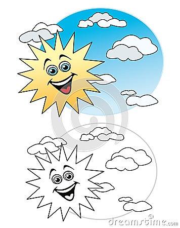 Sun dans le ciel