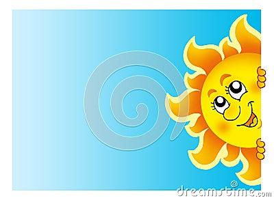 Sun de cachette sur le ciel