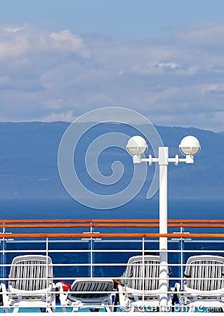 Sun deck on cruise ship