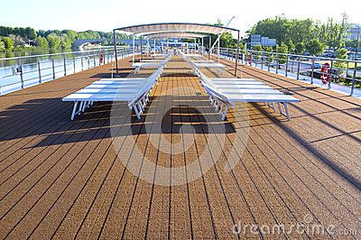 Sun Deck, Riverboat, Rhone River, France