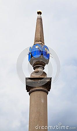 Sun Dial at Seven Dials Plaza London England