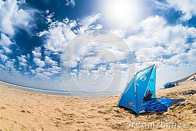 Sun dome on a beach Editorial Photo