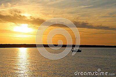 Sun down at the Baltic Sea