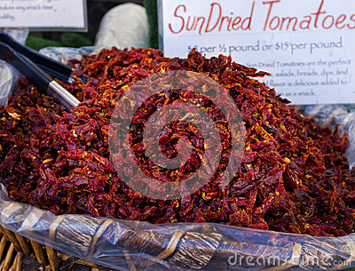 Sun Dried Tomatoes, Farmers Market, California