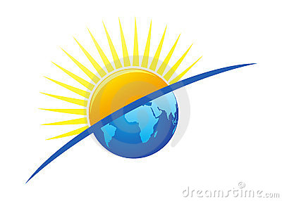 sun and earth logo royalty free stock photography image