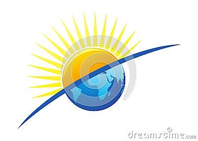 Sun and earth logo
