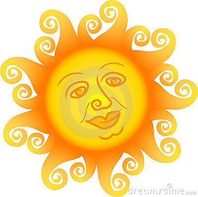Sun för ai-tecknad filmframsida
