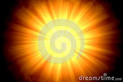Sun flare centered