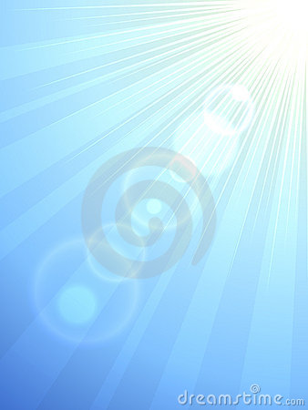 Sun flare vector background