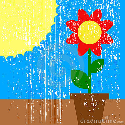 Sun and flower