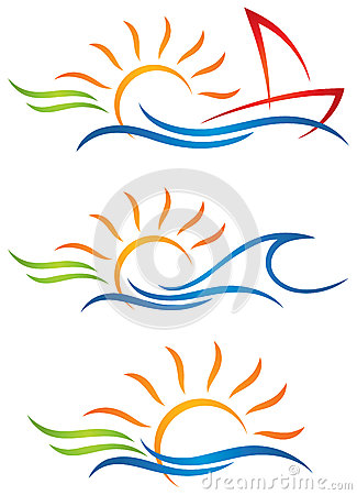 Free Sun Fun Logo Royalty Free Stock Images - 40006679