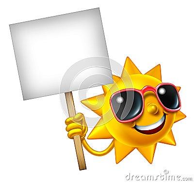 Sun Fun Mascot Sign