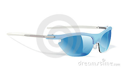 Sun glass blue