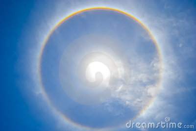 Sun Halo in the Sky