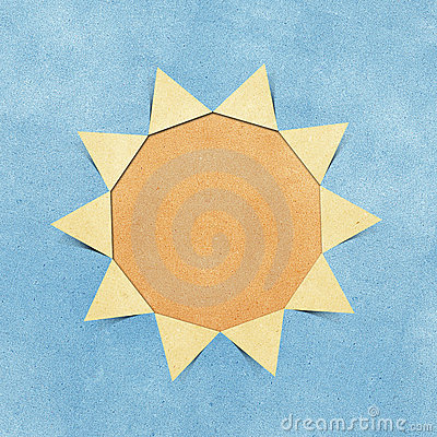 Free Sun Hole Ripped In Recycled Paper Craft Royalty Free Stock Images - 20706679
