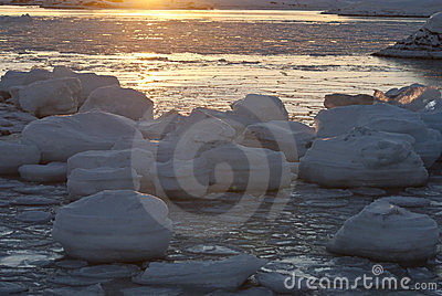Sun and ice.