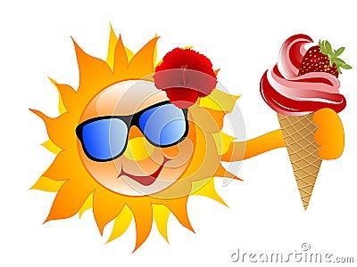 Sun with ice cream