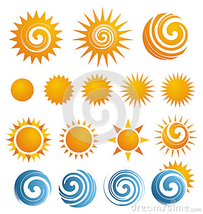Free Sun Icon Set Royalty Free Stock Photography - 27306127