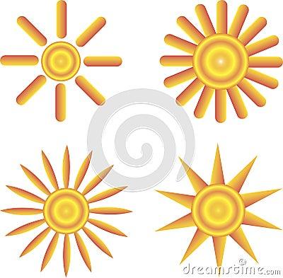 The sun icon. Symbol.