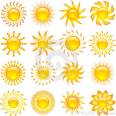 Free Sun Icons Royalty Free Stock Photography - 15266557
