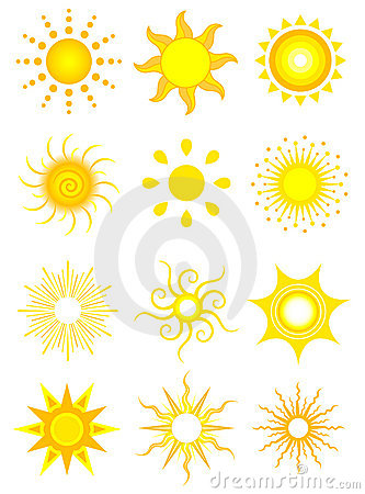 Free Sun Icons Royalty Free Stock Images - 2632409
