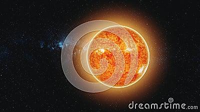 Sun iluminou a terra que o movimento r?pido reduz o zumbido da vista para fora ilustração stock
