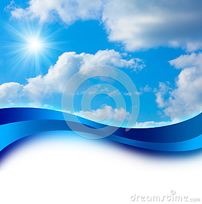 Free Sun In Blue Sky Cover Design Royalty Free Stock Images - 24989689