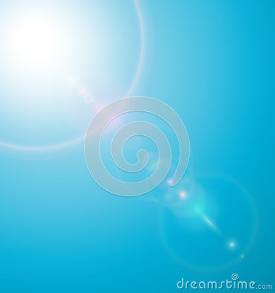 Sun with lenses flare
