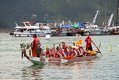 The Sun Life Stanley International Dragon Boat Editorial Stock Photo