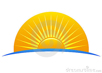 Sun logo Vector Illustration