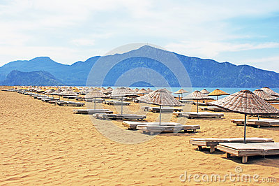 Sun loungers on Iztuzu beach