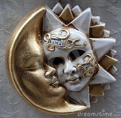 Sun and moon mask