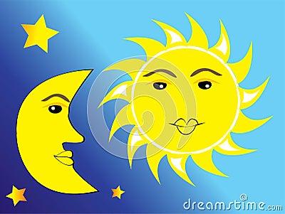 sun moon stars clipart