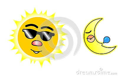 Sun And Moon02 Stock Images - Image: 8408284