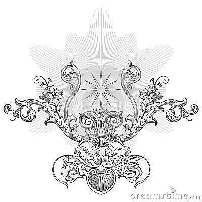 Sun ornament vector