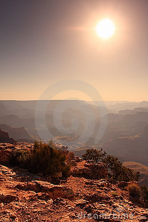 Sun over the Grand Canyon