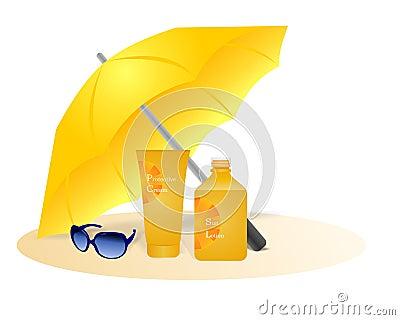 Sun protection, cdr vector
