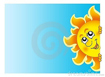 Sun que está al acecho en el cielo