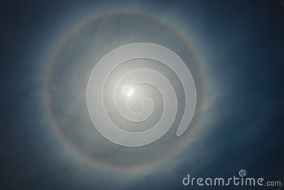 Sun, rainbow, clouds Stock Photo