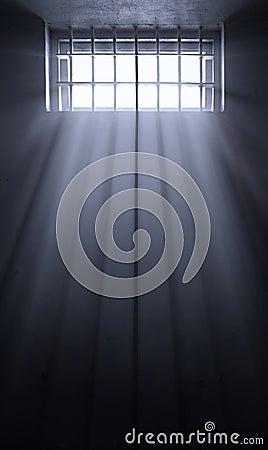 Sun rays in dark prison cell