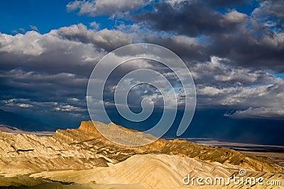 Sun Rays over Death Valley