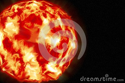 The sun the red giant . the main source of energy on Earth Stock Photo
