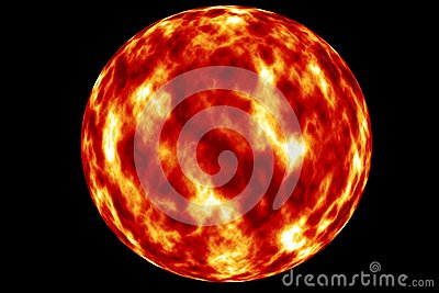 The sun the red giant . Stock Photo