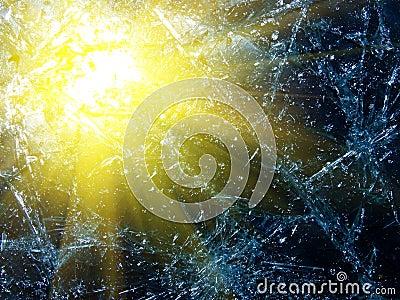 Sun reflexion in glass