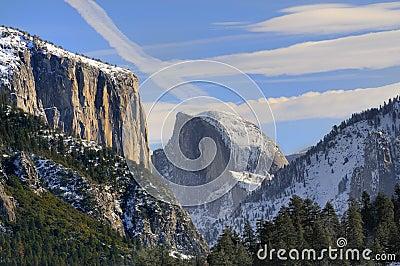 Sun rise on the granite peaks
