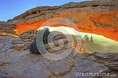 Sun rising mesa arch,arches national park,utah,usa