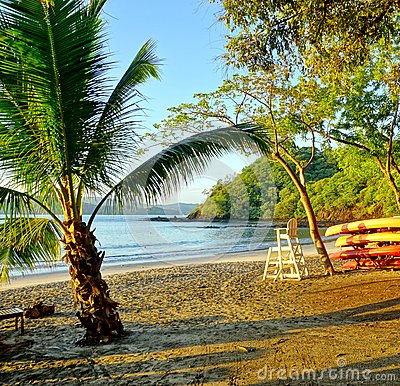Free Sun Rising Over The Playa Blanca Beach In Papagayo, Costa Rica Stock Photography - 63481312