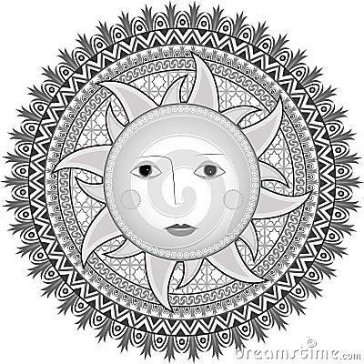 Sun in Russian style