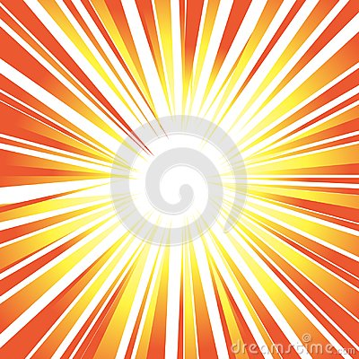 Free Sun`s Orange Rays Or Explosion Background For Design Speed, Move Royalty Free Stock Image - 105438396