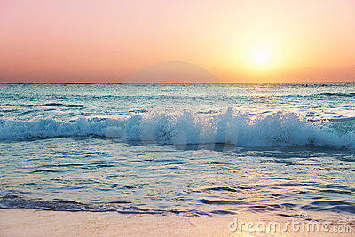 Sun sets on Seven Mile Beach